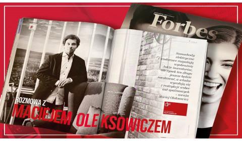 Maciej Oleksowicz w magazynie Forbes