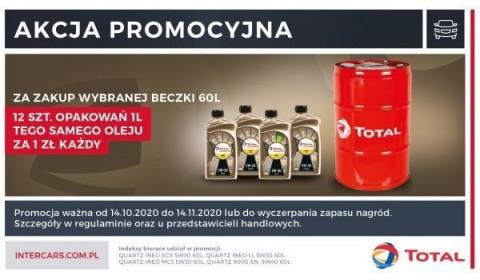 Promocja na oleje Total w Inter Cars