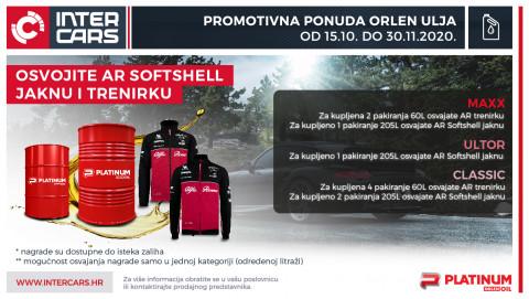 Orlen promotivna ponuda-15.10.-30.11.2020 - osvojite AR softshell jaknu i trenirku