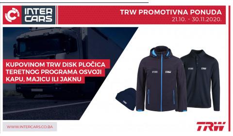 Nagrađujemo kupovinu TRW disk pločica teretnog programa