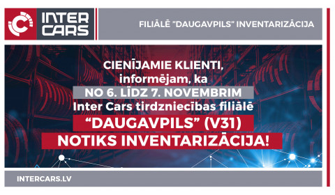 V31 Daugavpils filiāles inventarizācija