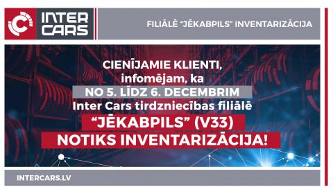 """Filiāles V33 """"Jēkabpils"""" inventarizācija"""