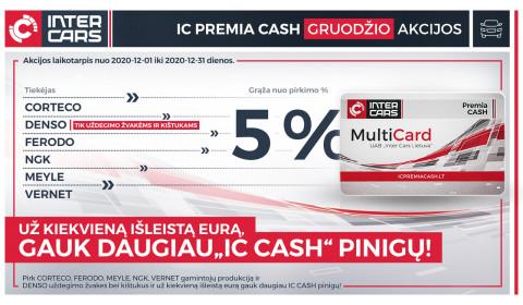 IC PREMIA CASH gruodžio mėn. akcijos l. automobilių dalims