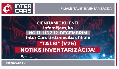 """Filiāles V26 """"Talsi"""" inventarizācija"""