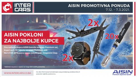 Kupovinom AISIN artikala osvojite sjajne nagrade