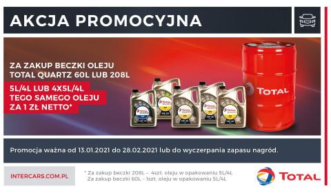 Kup oleje Total Quartz i otrzymaj bonus za złotówkę!