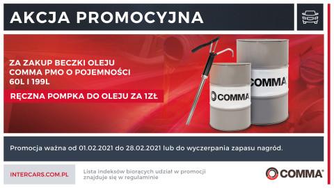 Promocja oleju Comma PMO