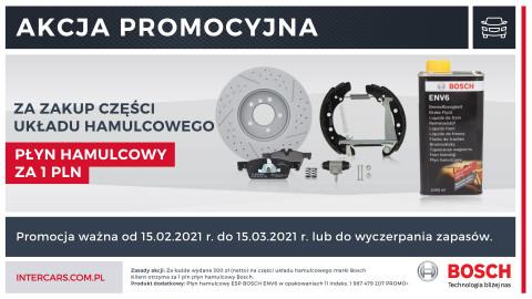 Promocja na asortyment hamulcowy firmy Bosch