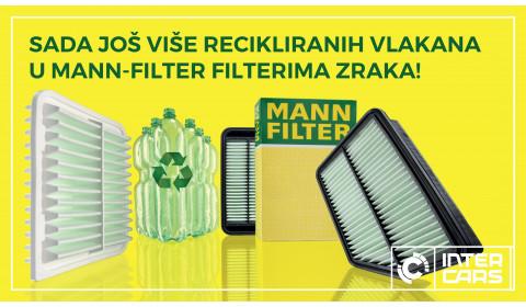 Sada još više recikliranih vlakana u MANN-FILTER filterima zraka!