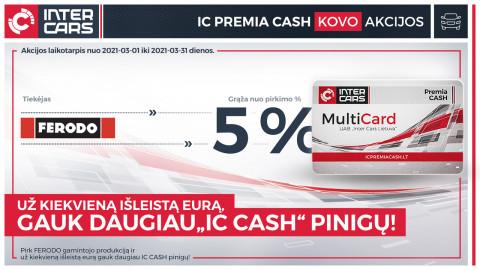 IC PREMIA CASH kovo mėn. akcijos l. automobilių dalims