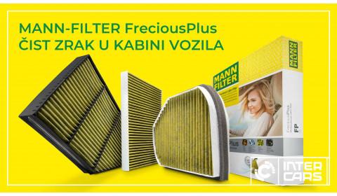MANN-FILTER FreciousPlus pruža čist zrak u kabini vozila