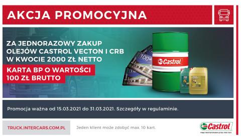 Karta BP na 100 zł za zakup olejów Castrol Vecton i CRB