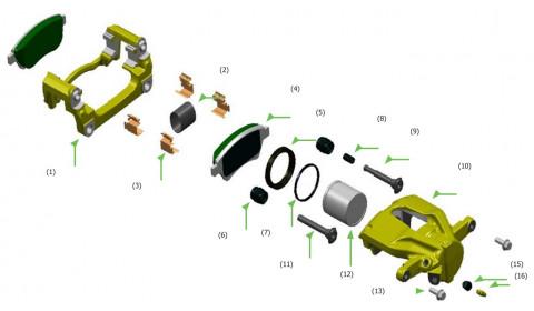 """Stabdžių suporto remontas – """"Bosch"""" patarimai autoservisui"""