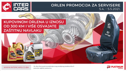 Kupovinom ORLEN ulja osvojite zaštitnu navlaku za sjedište