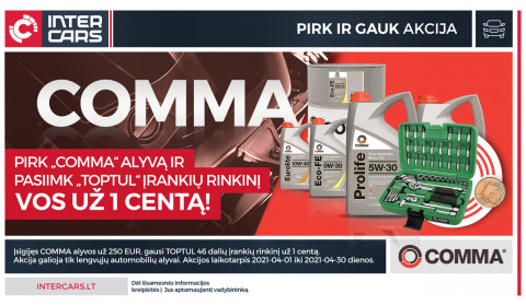 COMMA akcija