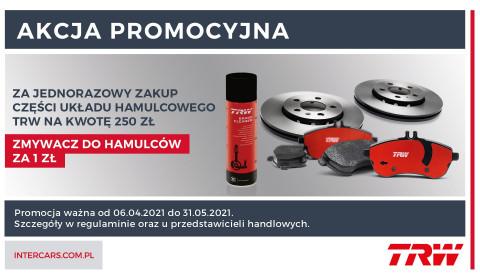 Promocja na części układu hamulcowego firmy TRW