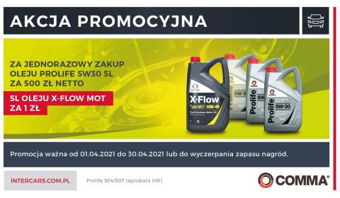 Szansa na 5L oleju X-FLOW MOT za 1 zł