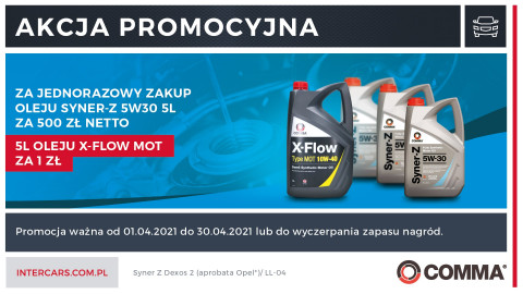 Kup olej SYNER-Z 5W30 5L i otrzymaj nagrodę