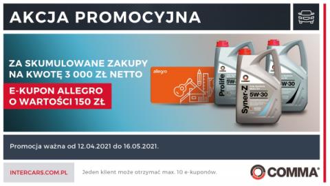 e-kupon Allegro w promocji Comma