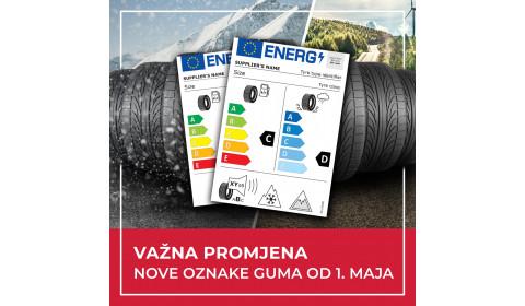 Važna promjena: Nove oznake za gume od 1. maja 2021. godine