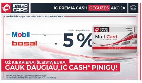 IC PREMIA CASH gegužės  mėn. akcijos l. automobilių dalims
