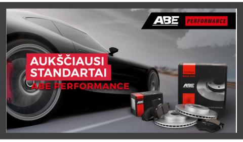 """""""ABE performance"""" stabdžių diskai ir trinkelės"""