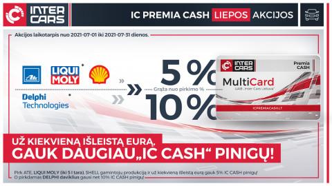 IC Premia Cash liepos mėn. akcijos