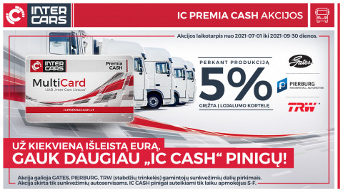 IC CASH akcijos sunkvežimių dalims