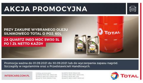 Olej silnikowy TOTAL QUARTZ INEO MDC 5W30 5 L w promocji za 1 PLN
