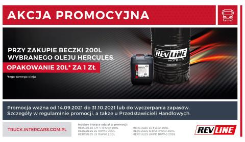 W nowej promocji oleje REVLINE HERCULES za 1 zł netto