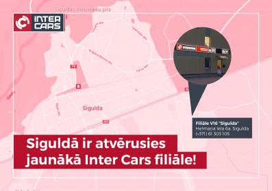 Atklāta jauna Inter Cars filiāle Siguldā