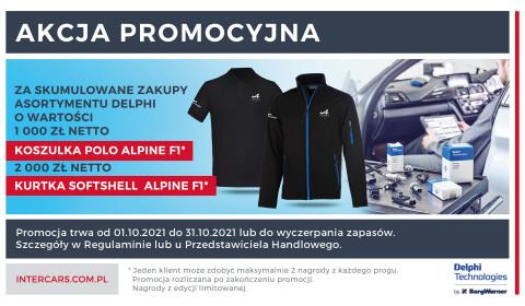 Kurtki i koszulki za zakupy produktów Delphi