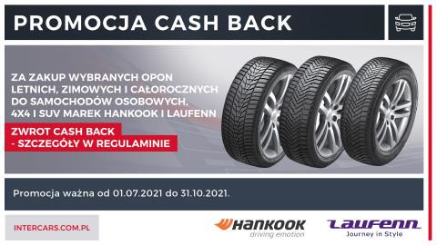 Promocja typu cash back na opony marek Hankook i Laufenn