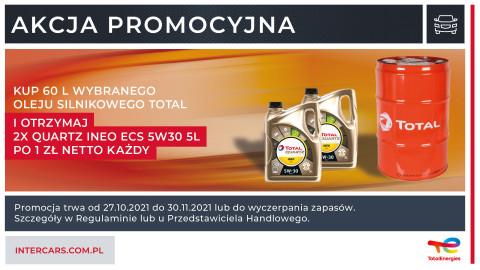 Dodatkowe opakowanie oleju przy zakupie 60 l. oleju silnikowego Total
